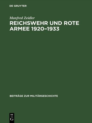 cover image of Reichswehr und Rote Armee 1920–1933