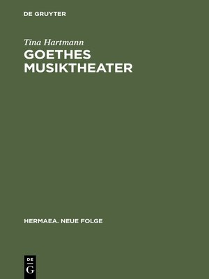cover image of Goethes Musiktheater