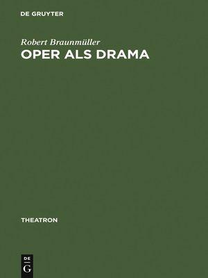 cover image of Oper als Drama