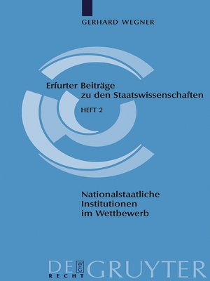 cover image of Nationalstaatliche Institutionen im Wettbewerb
