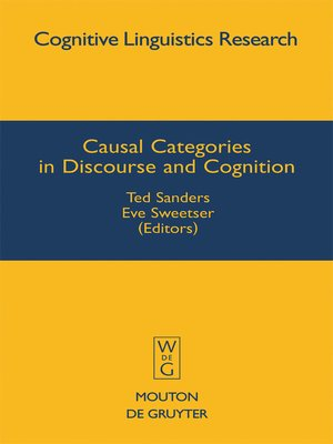 cover image of Causal Categories in Discourse and Cognition