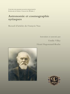 cover image of Astronomie et cosmographie syriaques