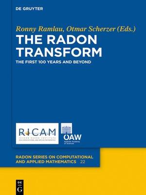cover image of The Radon Transform