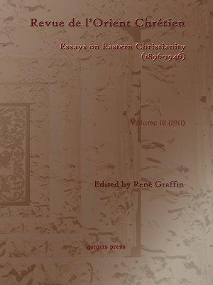 cover image of Revue de l'Orient Chrétien (1896-1946)