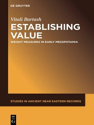 cover image of Establishing Value
