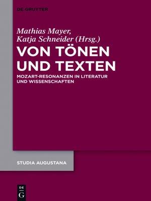 cover image of Von Tönen und Texten