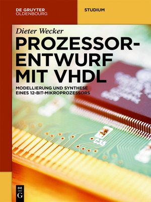 cover image of Prozessorentwurf mit VHDL
