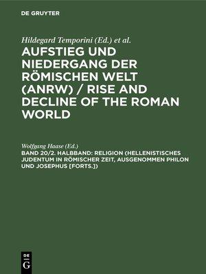 cover image of Religion (Hellenistisches Judentum in römischer Zeit, ausgenommen Philon und Josephus [Forts.])