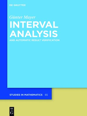cover image of Interval Analysis