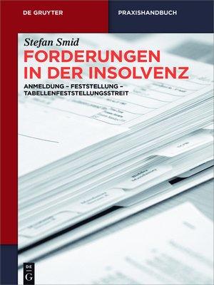cover image of Forderungen in der Insolvenz