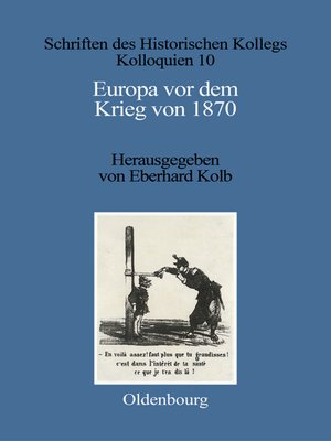 cover image of Europa vor dem Krieg von 1870