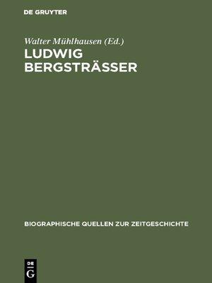 cover image of Ludwig Bergsträsser