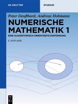 cover image of Numerische Mathematik 1
