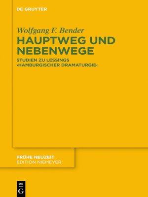 cover image of Hauptweg und Nebenwege
