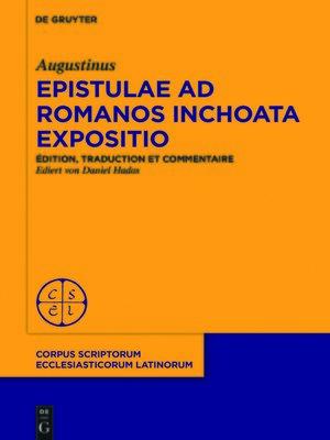 cover image of Commencement de commentaire sur l'épître aux Romains