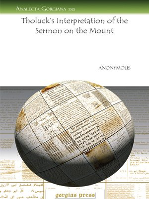 cover image of Tholuck's Interpretation of the Sermon on the Mount