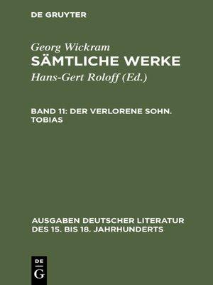 cover image of Der verlorene Sohn. Tobias