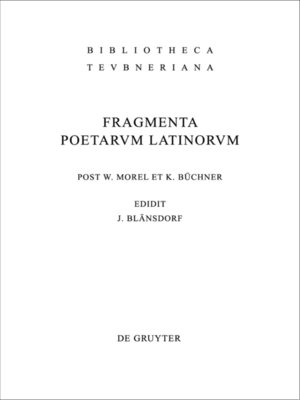 cover image of Fragmenta poetarum Latinorum epicorum et lyricorum