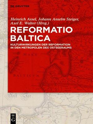 cover image of Reformatio Baltica