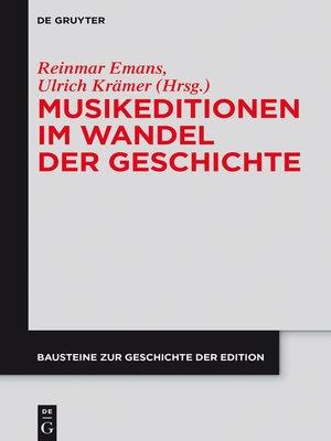 cover image of Musikeditionen im Wandel der Geschichte