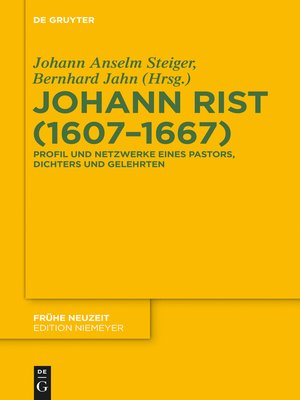 cover image of Johann Rist (1607-1667)