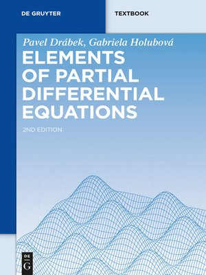 cover image of Elements of Partial Differential Equations