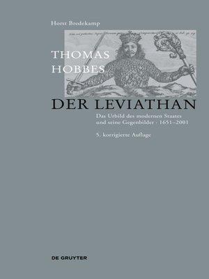 cover image of Thomas Hobbes--Der Leviathan