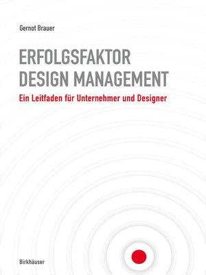 cover image of Erfolgsfaktor Design-Management