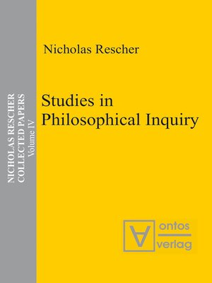 cover image of Studies in Philosophical Inquiry