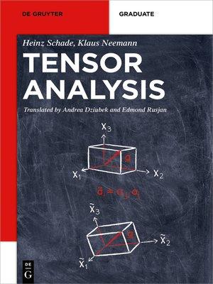 cover image of Tensor Analysis