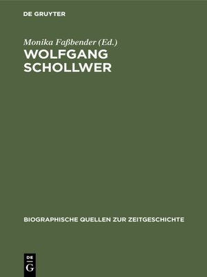 cover image of Wolfgang Schollwer