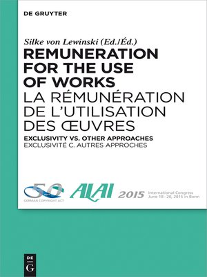 cover image of Remuneration for the Use of Works