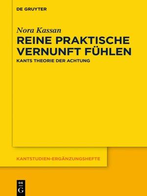 cover image of Reine praktische Vernunft fühlen