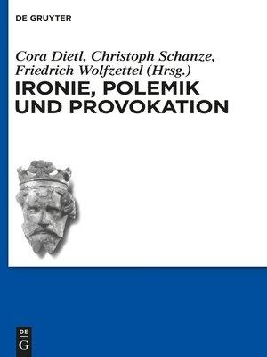 cover image of Ironie, Polemik und Provokation