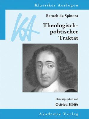 cover image of Spinoza