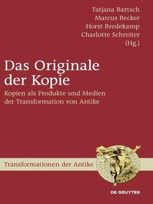 cover image of Das Originale der Kopie