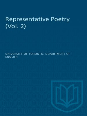 cover image of Representative Poetry