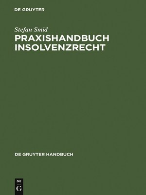 cover image of Praxishandbuch Insolvenzrecht