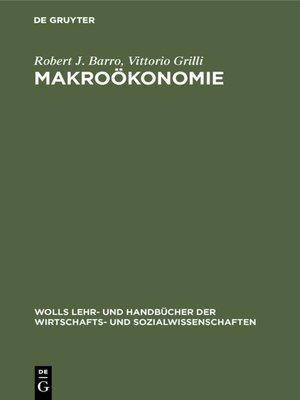 cover image of Makroökonomie