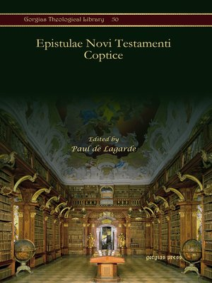 cover image of Epistulae Novi Testamenti Coptice