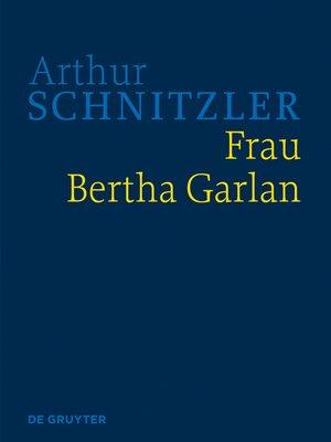 cover image of Frau Bertha Garlan