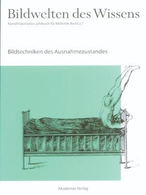 cover image of Bildtechniken des Ausnahmezustands