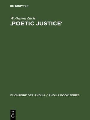 cover image of 'Poetic Justice'