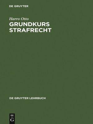 cover image of Grundkurs Strafrecht