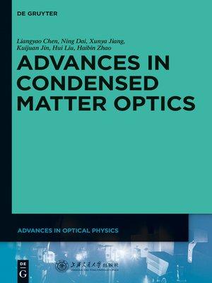cover image of Advances in Condensed Matter Optics