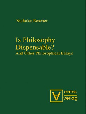 cover image of Is Philosophy Dispensable?