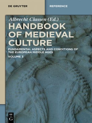 cover image of Handbook of Medieval Culture. Volume 3