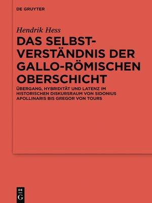 cover image of Das Selbstverständnis der gallo-römischen Oberschicht
