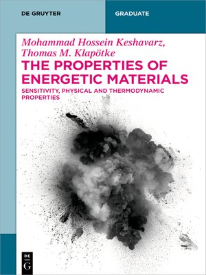 cover image of The Properties of Energetic Materials
