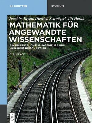 cover image of Mathematik für angewandte Wissenschaften